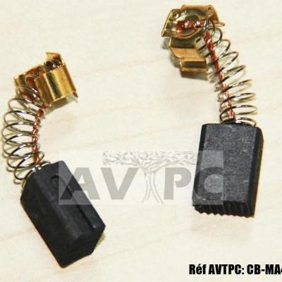 Charbon 191962-4 Type CB406 CB407 CB418 CB419 pour moteurs électriques Makita