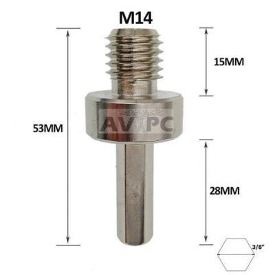 Adaptateur convertisseur M14 HEXAGONAL pour perçeuse