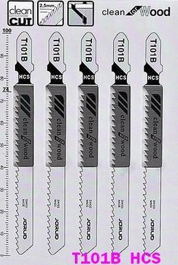 Lames de scie sauteuse, T101B
